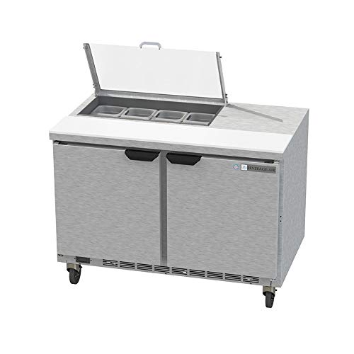 - Beverage Air SPE48HC-08-CL Elite Series Clear Lid Sandwich Top Refrigerated Counter, 48