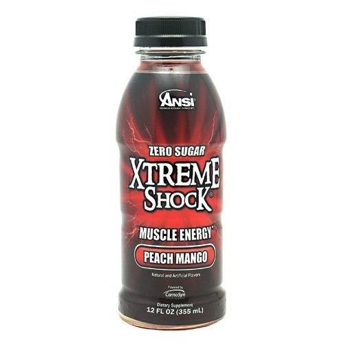 Ansi Xtreme Shock RTD Energy Drink, Fruit Punch, 12 fl.oz, 12 Count -