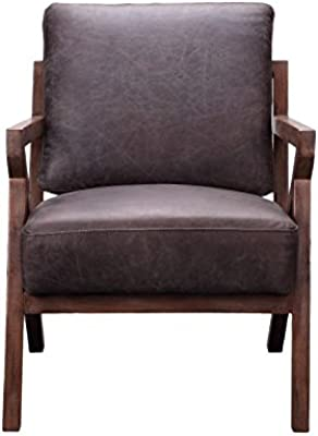 Moes Home Collection Drexel Arm Chair Antique Ebony Mid Century Modern