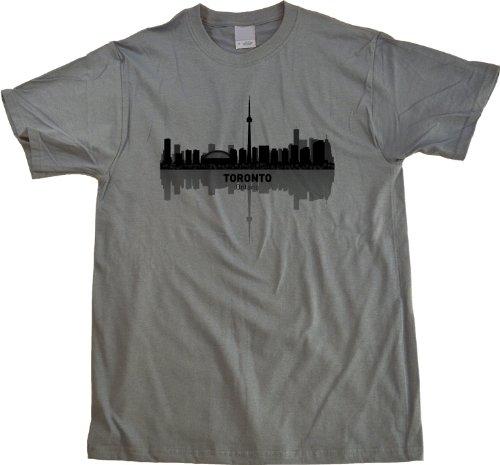 Toronto, Canada City Skyline Unisex T-shirt Grey Ontario Pride Tee