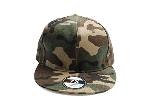 7X - Gorra de béisbol - para Hombre Verde Verde Talla única