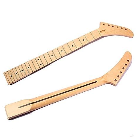 VIDOO Guitarra Eléctrica Cuello Punto Madera De Arce 22 Trastes para Fender Strat Refacciones del Embutido: Amazon.es: Hogar
