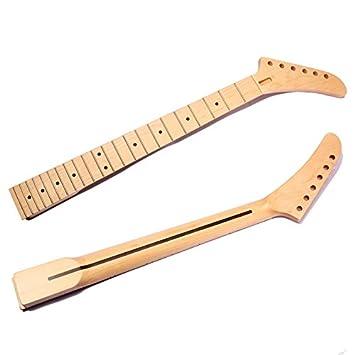Incrustaciones de madera de arce para guitarra eléctrica, 22 trastes para repuestos de piezas de trama de guardabarros: Amazon.es: Instrumentos musicales