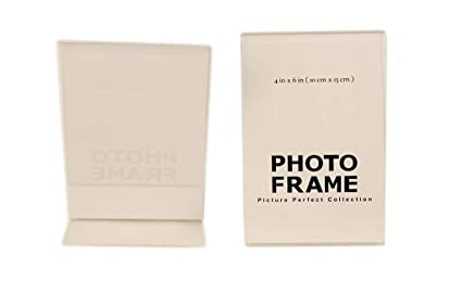 Amazon.com - Pack of 4 x6 Acrylic Picture Frames, Sign Holders 4x6 ...