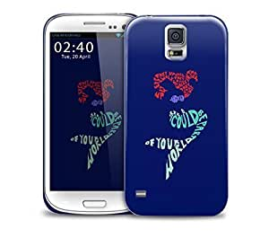 little mermaid typography Samsung Galaxy S5 GS5 protective phone case