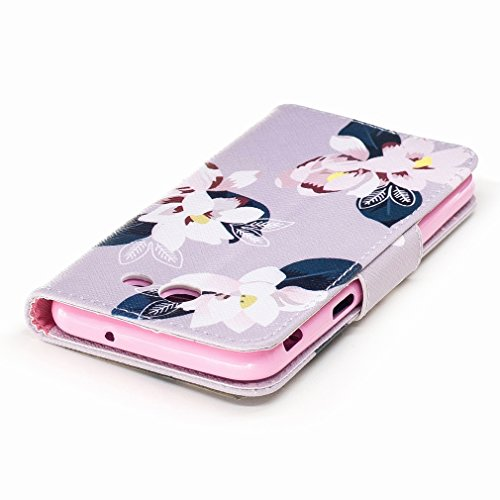 Yiizy Samsung Galaxy A3 (2017) / A320F/FL / A320Y Custodia Cover, Fiore Rosa Design Sottile Flip Portafoglio PU Pelle Cuoio Copertura Shell Case Slot Schede Cavalletto Stile Libro Bumper Protettivo Bo