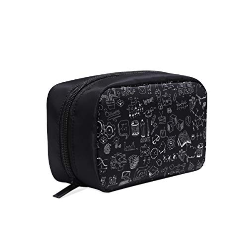 (Blackboard Inscribed With Formulas Portable Travel Makeup Cosmetic Bags Organizer Multifunction Case Small Toiletry Bags For Women And Men Brushes Case)