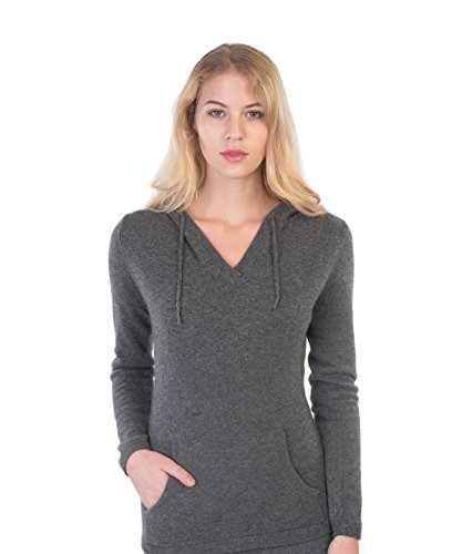 cashmere 4 U 100% Cashmere Sweater Hoodie Pullover For (Autumn Cashmere Cowl Neck Sweater)