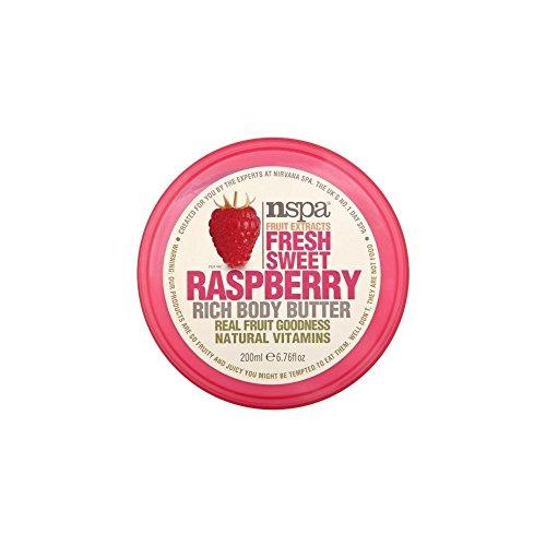 N-Spa Fruchtextrakte Frische süße Raspberry Reich Body Butter (200 ml) - Packung mit 6