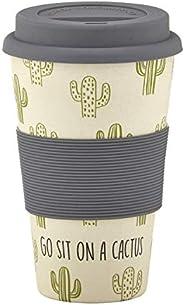 Santa Barbara Design Studio SIPS Drinkware Bamboo Fiber Travel Mug with Silicone Grip and Lid, 13-Ounce, Go Si