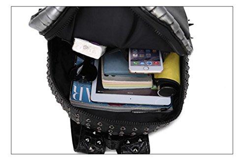 Doble bandolera Halloween Rock unisex 3D Cobra iPad mochila Negro