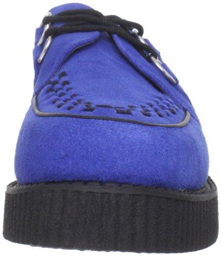 T.U.K. Tuk - Mondo Lo Creeper, Sneakers, unisex Blu (Bleu (Blue & Black))