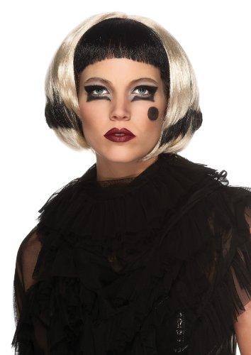 Lady Gaga Two-Tone Wig, Black/Blonde, One Size (Lady Gaga Fancy Dress)