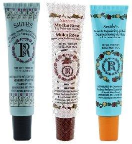 Rosebud Perfume Co. Lip Balm Tube 3 Pack: Mentol & Eucalyptus + Moka Rose + Rose & Mandarin - 0.5 oz. each - Mandarin Rose Perfume