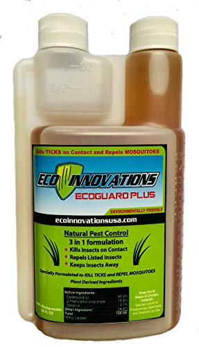 Eco Innovations, Ltd; EcoGuard Plus, 16 ounce, All Natural Tick and Mosquito Control Concentrate for Spray Applications in Lawn and -