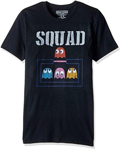 Pac-Man Unisex-Adults Ghost Squad Short Sleeve T-Shirt, b...