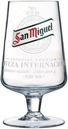 Tuff-Luv pinta vaso de cerveza/vasos/Barware CE 20oz/568ml, San Miguel Half Pint Glass