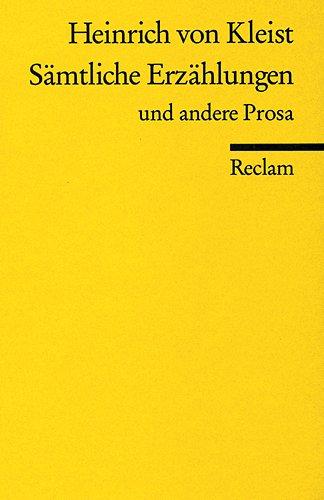 Samtliche Erzahlungen (German Edition)