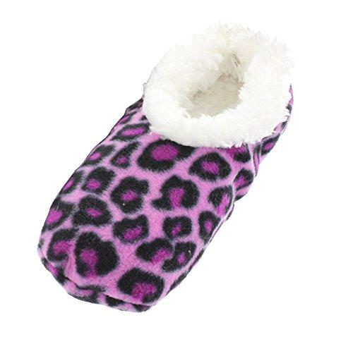 snoozies! Kuschel-Hausschuh ANIMALS leopard Pink