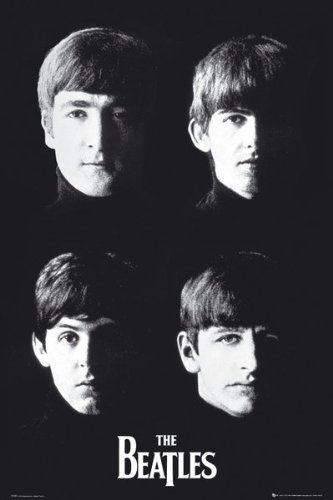 Beatles Vintage Band Face 24x36 Poster