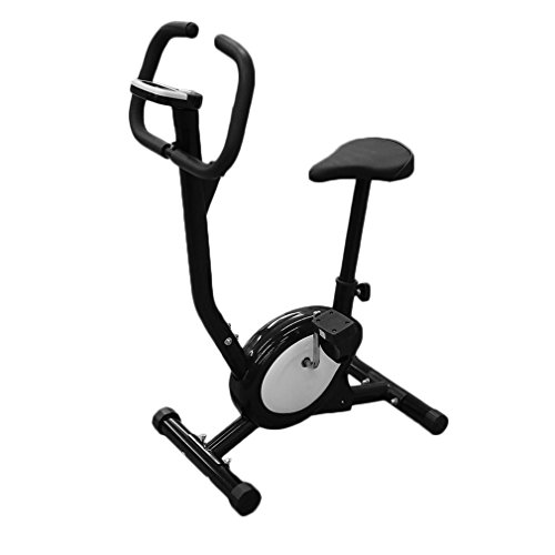 OUTAD Exercise Bike Cardio Fitness Cycling Machine Stationary Bike Cardio Aerobic Equipment Home Workout Gym Electric Exercise Bike-Black and - Exercise Aerobic Machines