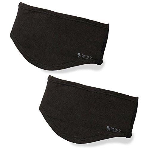 The Friendly Swede 2 Stück Stirnband bzw. Kopfband - für optimalen Schutz Ihrer Ohren (Schwarz)