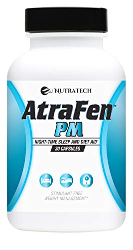 Atrafen PM - Nighttime Diet Pill, Appetite Suppressant, and Sleep Aid. Boost Metabolism, Burn Fat, and Curb Late Night Cravings. (Best Otc Appetite Suppressant Pills)