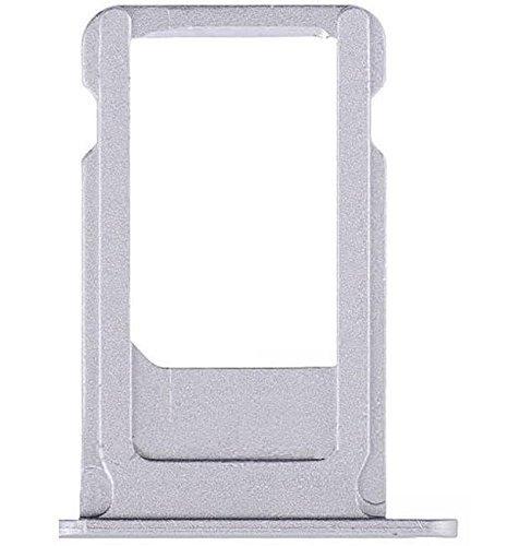 MMOBIEL Bandeja de Tarjeta SIM Ranura Compatible con iPhone 6-4.7 Inch Plateado Incl sim Pin y pa/ño