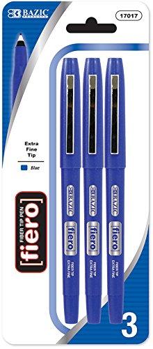 BAZIC Fiero Blue Fiber Tip Fineliner Pen (3/Pack) 144 pcs sku# 901243MA by Bazic (Image #1)