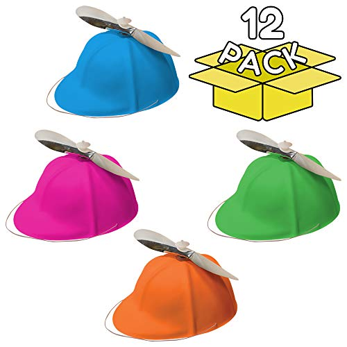 Assorted Colors Propeller Beanies Party Hats - 12 Pack -