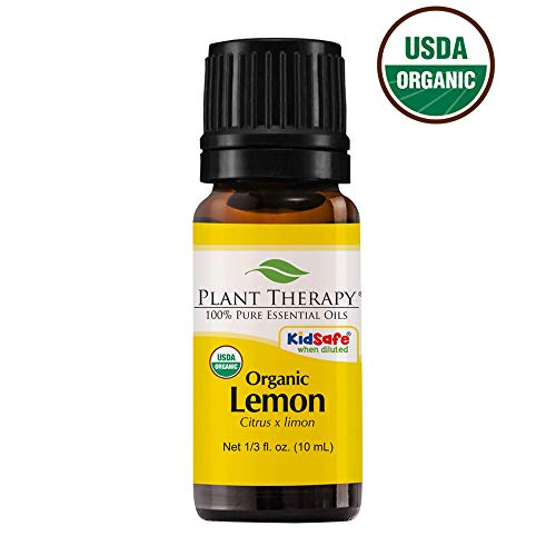 Plant Therapy Lemon Organic Essential Oil 100% Pure, USDA Certified Organic, Undiluted, Therapeutic Grade 10 mL (1/3 oz)