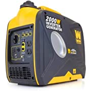 WEN Product 56200i WEN 2000W Inverter Generator, CARB Compliant, 1 gallon Fuel Capacity, Gasoline Powered, 4 hours...