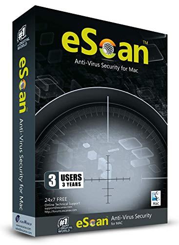 eScan Antivirus for Mac 360 maximum protection anti malware Zero-Day threats cover Antivirus 2019 Internet Security | 3…