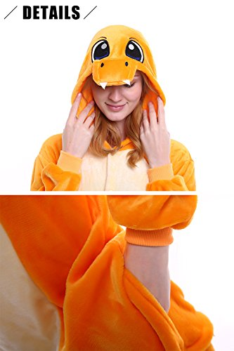 Attrezzatura Party Natale Halloween Kigurumi Dolamen Charmander Anime Donna Uomo Adulto Costume Onesie Sleepwear Cosplay Pigiama Unisex OqvHBOS
