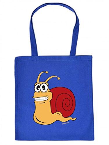 Lustig bedruckte Stofftasche - Lustige Schnecke - Spass - Tasche Baumwolltasche Beutel Tragetasche woqw5f