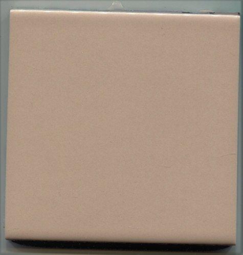 About 4x4 Ceramic Tile Mocha Tan-540 Brite Summitville Vintage -Sample-M, Kitchen, Bathroom, Wall Tile, Ceramic Tile, Replacement (Vintage Ceramic Tile)