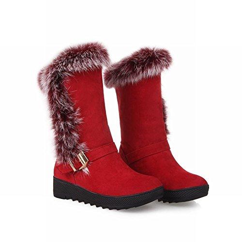 Schouder Dames Faux Fur Mode Comfort Comfort Warme Snowboots Rood