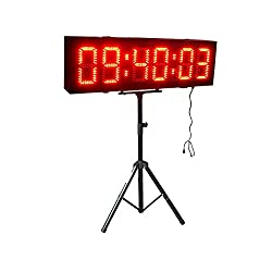Large Outdoor LED Countdown Timer 8'' Double Sided Clock For Race Tiathlon Events