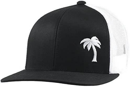 - Lindo Trucker Hat - Palm Tree Series (Black/White)