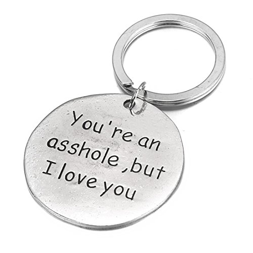 UNKE Funny Dog Tag Keychain Charm Keyring Valentine's Day Gift for Couples Lovers Photo #3