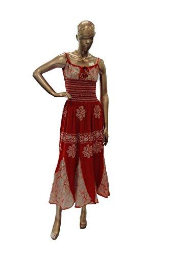 NF Batik Print Scarf Dress Orange-One Size