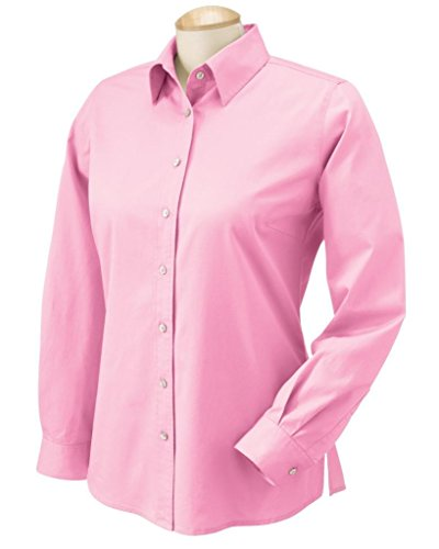 - Chestnut Hill Women's 32 Singles Long Sleeve Twill Button Down Dress Shirt CH500W pink Medium