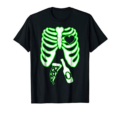 Mens Skeleton Xray Tshirt, Mens Halloween Matching Costume X-Ray ()