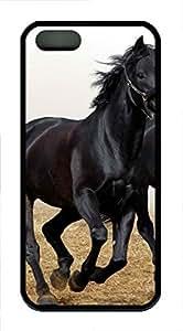 iPhone 5 5S Case The Black Ride The Horse TPU Custom iPhone 5 5S Case Cover Black
