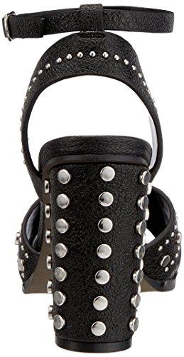 316 black Buffalo Pu Donna 01 1 Cinturino 0566 Alla Con Leather Sandali Nero Caviglia dn1F1r