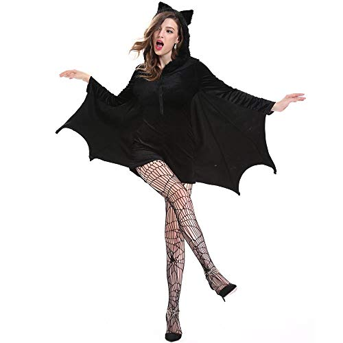 YOUTH UNION Women's Halloween Cosplay Costume Bat Vampire Dress Up (L) by YOUTH UNION (Image #2)