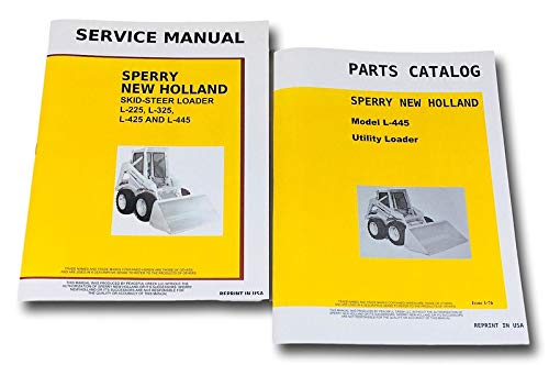 Set New Holland L445 Skid Steer Loader Service Parts Manuals Shop Repair - New Holland Loaders Steer Skid