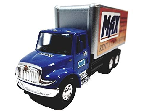 Showcasts International Blue & Silver MAX Moving Box Truck 1/48 Scale Commercial Diecast