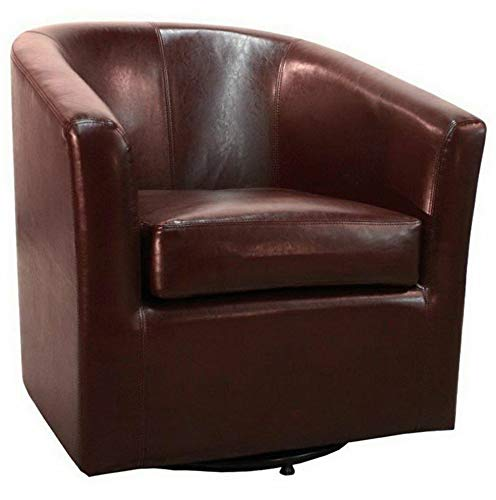 (Hebel Hayden Swivel Leather Accent Chair | Model CCNTCHR - 194 |)