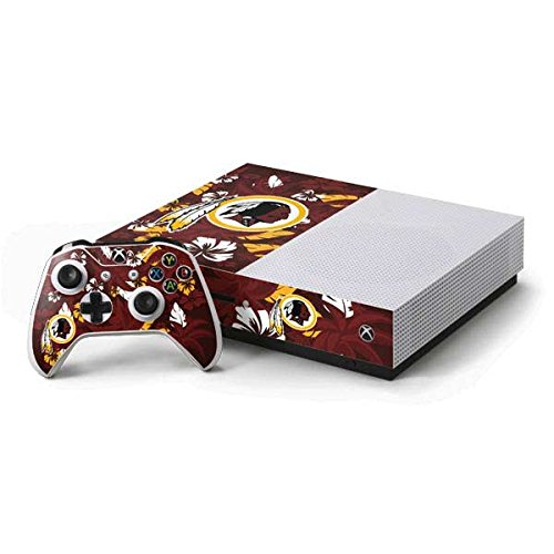 Redskins Xbox Washington Controller - Skinit NFL Washington Redskins Xbox One S Console and Controller Bundle Skin - Washington Redskins Tropical Print Design - Ultra Thin, Lightweight Vinyl Decal Protection